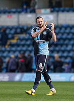 Goalscorer Paul Hayes of Wycombe Wanderers at the final whistle during the Sky Bet League 2 match between Wycombe Wanderers and Barnet at Adams Park, High Wycombe, England on 16 April 2016. Photo by Andy Rowland.