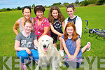 FAMILY DAY: Having great fun at the Cam Family and Fun Day at the community centre Camp, on Sunday, Front l-r: Grace O'neill, Paco the dog and Anna Jane Wall. Back l-r: Jane Sheils, Breda O'Neill, Sophie Sheils and Aoife Bowen.
