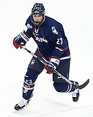 Max Letunov (UConn - 27) - The Boston University Terriers defeated the visiting University of Connecticut Huskies 4-2 (EN) on Saturday, October 24, 2015, at Agganis Arena in Boston, Massachusetts.