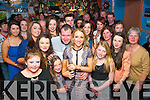Diane O'Connor, Brandon (front centre) had a great night in Murphy's pub, Brandon pier celebrating her 21st birthday last Saturday night surrounded by many friends and family.