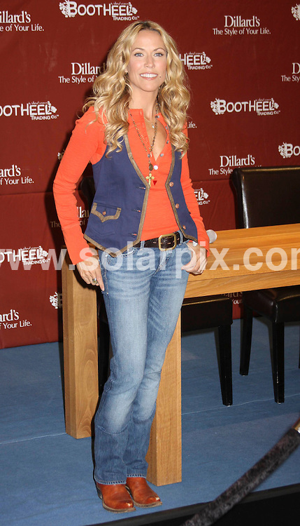 """**ALL ROUND PICTURES FROM SOLARPIX.COM**.**SYNDICATION RIGHTS FOR UK, SPAIN, PORTUGAL, AUSTRALIA, S.AFRICA & DUBAI (U.A.E) ONLY**.Sheryl Crow Launches Her New """"Bootheel Trading Company"""" Collection at Dillards in Las Vegas, Nevada, USA. August 26, 2008..JOB REF: 7139 PHZ(PRN)    DATE: 26_08_2008.**MUST CREDIT SOLARPIX.COM OR DOUBLE FEE WILL BE CHARGED* *UNDER NO CIRCUMSTANCES IS THIS IMAGE TO BE REPRODUCED FOR ANY ONLINE EDITION WITHOUT PRIOR PERMISSION*"""
