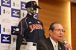 Sadaharu Oh, OCTOBER 10, 2012 - Baseball : WBC Japanese Baseball team head coach Koji Yamamoto attends his first news conference in Tokyo, Japan. Koji Yamamoto was appointed Japanese head coach for World Baseball Classic games. (Photo by Yusuke Nakanishi/AFLO SORT) [1090]