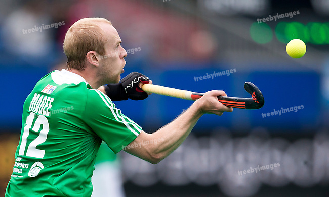 23/06/2015<br /> HWL Semi Final Antwerp Belgium 2015<br /> Ireland v Great Britain Men<br /> Eugene Magee of Ireland in action<br /> Photo: Grant Treeby