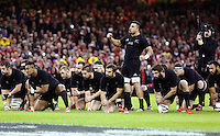 Pictured: New Zealand players doing the haka Saturday 22 November 2014<br />