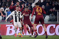 Cristiano Ronaldo of Juventus , Bryan Cristante , Davide Santon and Kostas Manolas of AS Roma compete for the ball during the Serie A 2018/2019 football match between Juventus and AS Roma at Allianz Stadium, Roma, December 22, 2018 <br /> Foto OneNine / Insidefoto