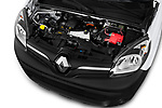 Car stock 2018 Renault Kangoo ZE Maxi ZE 2 places 4 Door Car van engine high angle detail view