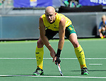 The Hague, Netherlands, June 15: Robert Hammond #6 of Australia prepares for a penalty corner during the field hockey gold match (Men) between Australia and The Netherlands on June 15, 2014 during the World Cup 2014 at Kyocera Stadium in The Hague, Netherlands. Final score 6-1 (2-1)  (Photo by Dirk Markgraf / www.265-images.com) *** Local caption ***