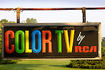 Color TV by RCA classic vintage signage...