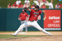 Northeastern Huskies relief pitcher Andrew Misiaszek (14) in action against the North Carolina State Wolfpack at Doak Field at Dail Park on June 2, 2018 in Raleigh, North Carolina. The Wolfpack defeated the Huskies 9-2. (Brian Westerholt/Four Seam Images)
