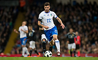 Patrick Cutrone (AC Milan) of Italy during the International Friendly match between Argentina and Italy at the Etihad Stadium, Manchester, England on 23 March 2018. Photo by Andy Rowland.
