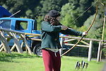 Lemuel Black giving a display of archery skills at the country fair at Oldbridge Estate on Saturday www.newsfile.ie