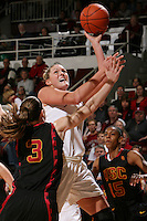STANFORD, CA - FEBRUARY 7:  Jayne Appel of the Stanford Cardinal during Stanford's 77-39 win over USC on February 7, 2010 at Maples Pavilion in Stanford, California.