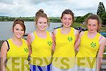 Over the Water RC Caherciveen rowers l-r: Fiona McGillicuddy, Aoife O'Donoghue, Fiona O'Mahony and Laura O'Connor who participated in the Callinafercy regatta at Ballykissane Pier on Sunday