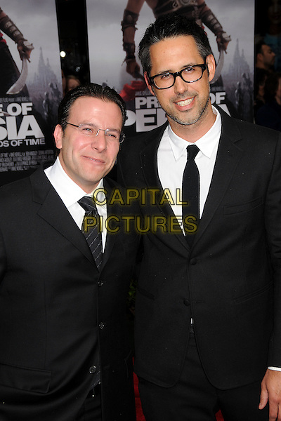 "DOUG MIRO & CARLO BERNARD.""Prince Of Persia: The Sands Of Time"" Los Angeles Premiere held at Grauman's Chinese Theatre, Hollywood, California, USA..May 17th, 2010.half length black suit glasses white shirt tie .CAP/ADM/BP.©Byron Purvis/AdMedia/Capital Pictures."