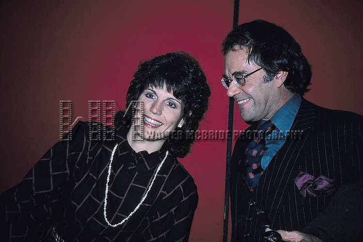 Lucie Arnaz with Laurence Luckinbill.( star of THEY'RE PLAYING OUR SONG ).New York City..November 1982.© Walter McBride /