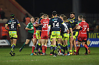 Picture by Anna Gowthorpe/SWpix.com - 02/02/2018 - Rugby League - Betfred Super League - Hull KR v Wakefield Trinity - KC Lightstream Stadium, Hull, England - A scuffle breaks out between the two teams