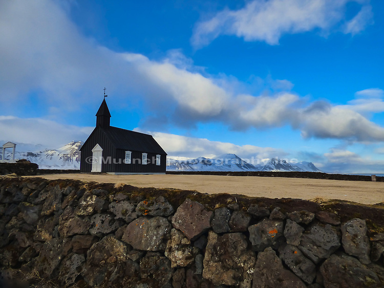 Buhir Black Church,Snaefellsnes Peninsula,Iceland