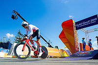 Picture by Alex Whitehead/SWpix.com - 10/04/2018 - Commonwealth Games - Road Cycling - Currumbin Beachfront, Gold Coast, Australia - Men's Individual Time Trial, Silver - England's Harry Tanfield.