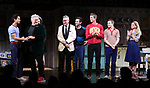 "Michael Hsu Rosen, Harvey Fierstein, Mercedes Ruehl, Moises Kaufman, Michael Urie, Ward Horton, Jack DiFalco and Roxanna Hope Radja  during the Broadway Opening Night Curtain Call for ""Torch Song"" at the Hayes Theater on November 1, 2018 in New York City."