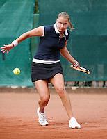 15-8-07, Amsterdam, Tennis, Nationale Tennis Kampioenschappen 2007, Titelverdedigster Danielle Harmsen gaat in de eerste ronde onderuit tegen Marlot Meddens