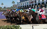 DEL MAR, CA - NOVEMBER 04: The field breaks from the gate in Breeders' Cup Filly & Mare Sprint on Day 2 of the 2017 Breeders' Cup World Championships at Del Mar Racing Club on November 4, 2017 in Del Mar, California. (Photo by Michael McInally/Eclipse Sportswire/Breeders Cup/
