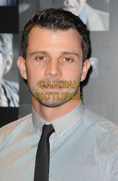 Neil McDermott.UK premiere of 'Four' at The Empire Cinema - Arrivals, London, England..October 10th, 2011.headshot portrait blue grey gray black tie stubble facial hair .CAP/WIZ.© Wizard/Capital Pictures.