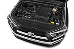 Car stock 2015 Toyota 4Runner Limited 5 Door SUV engine high angle detail view