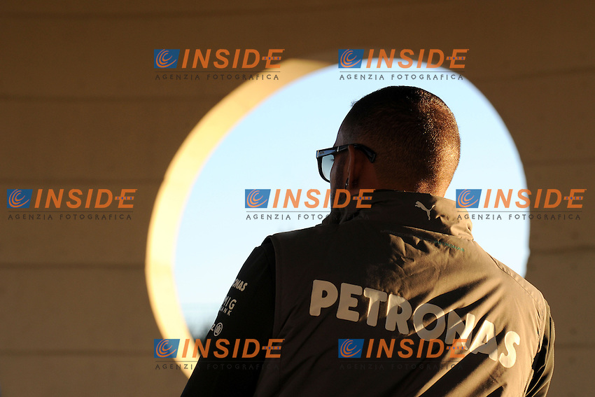 FORMULA ONE TESTS AT JEREZ FROM FEBRUARY 04 TO 8th 2013..MERCEDES AMG BRITISH DRIVER,LEWIS HAMILTON. .Jerez 05/02/2013.Formula 1 Test.Foto Insidefoto .ITALY ONLY