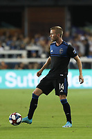 SAN JOSE, CA - AUGUST 24: Jackson Yueill #14 of the San Jose Earthquakes during a Major League Soccer (MLS) match between the San Jose Earthquakes and the Vancouver Whitecaps FC  on August 24, 2019 at Avaya Stadium in San Jose, California.