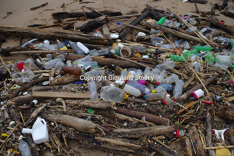 DURBAN - 18 May 2016 - Medical waste that was found on the Blue Lagoon Beach next to the mouth of the Umgeni River was found in amongst this debris. The waste, which consited primarily of tablits and sealed condoms, was found in among the debris littering the beach that had been cast ashore with recent heavy rains. Picture: Allied Picture Press/APP