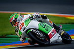 The rider Niccolo Antonelli during Moto3 race in Valencia. 2014/11/09. Spain. Samuel de Roman / Photocall3000.