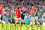 Paul Geaney Kerry in action against Alan O'Connor Cork in the Munster Final at Fitzgerald Stadium, Killarney on Saturday evening.
