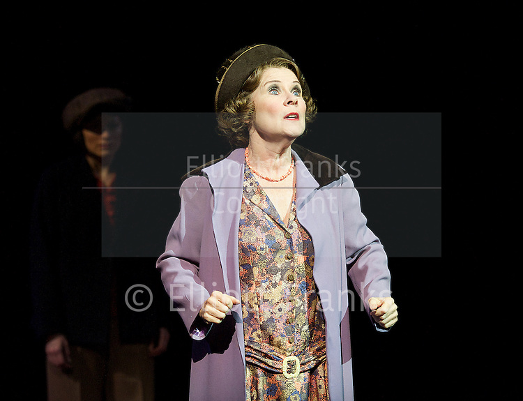 Gypsy <br /> at the Festival Theatre, Chichester, Great Britain <br /> press photocall<br /> 10th October 2014 <br /> <br /> A MUSICAL FABLE<br /> Book by ARTHUR LAURENTS, Music by JULE STYNE, Lyrics by STEPHEN SONDHEIM<br /> Suggested by the memoirs of GYPSY ROSE LEE<br /> Director JONATHAN KENT<br /> <br /> <br /> Lara Pulver (Louise), <br /> Gemma Sutton (June), <br /> Imelda Staunton (Momma Rose), <br /> Lauren Varnham (Dolores/waitress) <br /> Kevin Whately (Herbie)<br /> Roger Dipper (L.A) <br /> Damien Poole (Kansas) <br /> <br /> <br /> Photograph by Elliott Franks <br /> Image licensed to Elliott Franks Photography Services