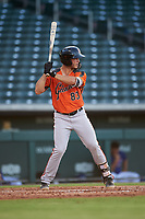 AZL Giants Orange Tyler Wyatt (83) at bat during an Arizona League game against the AZL Cubs 1 on July 10, 2019 at Sloan Park in Mesa, Arizona. The AZL Giants Orange defeated the AZL Cubs 1 13-8. (Zachary Lucy/Four Seam Images)