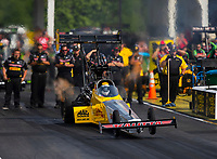 May 4, 2018; Commerce, GA, USA; NHRA top fuel driver Richie Crampton during qualifying for the Southern Nationals at Atlanta Dragway. Mandatory Credit: Mark J. Rebilas-USA TODAY Sports