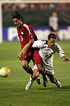 22 January 2006: Canada's Ante Jazic (3) fouls US forward Josh Wolff (16). The United States Men's National Team tied Canada 0-0 at Torero Stadium in San Diego, California in an International Friendly soccer match.