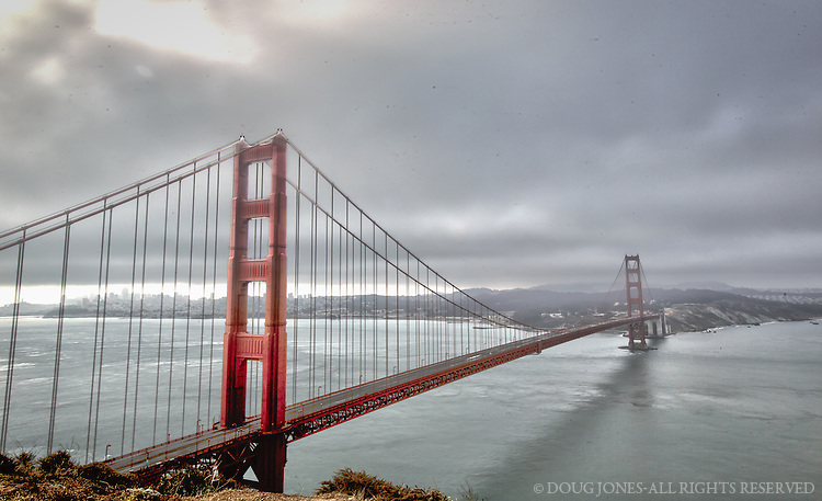 The Golden Gate on an early summer morning.