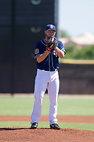 San Diego Padres pitcher Robbie Erlin (41) prepares to deliver a pitch to the plate during an Instructional League game against the Texas Rangers on September 20, 2017 at Peoria Sports Complex in Peoria, Arizona. (Zachary Lucy/Four Seam Images)
