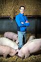 11/01/17 - LABESSERETTE - CANTAL - FRANCE - Portrait de Laurent SERIEYS eleveur de Capelin - Photo Jerome CHABANNE