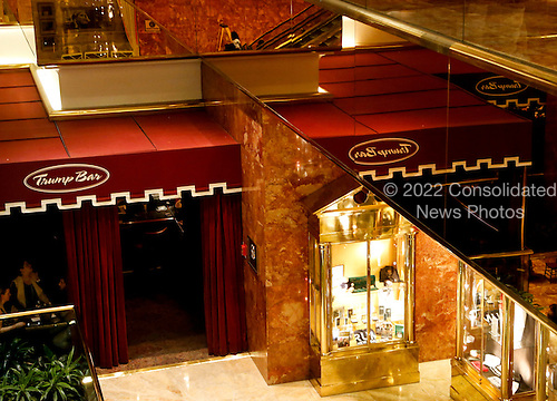 The Trump Bar, in the ground floor of the Trump Tower, while United States President-elect Donald Trump is holding meetings on top floors of the building, November 21, 2016, in New York, New York.<br /> Credit: Aude Guerrucci / Pool via CNP