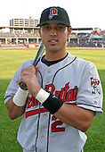 August 13, 2003:  Jason Bartlett of the New Britain Rock Cats, Class-AA affiliate of the Minnesota Twins, during a Eastern League game at Jerry Uht Park in Erie, PA.  Photo by:  Mike Janes/Four Seam Images