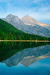 Mountain reflections on Avalanche Lake at Glacier National Park