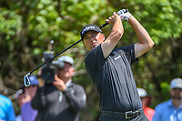 Ryan Palmer (USA) watches his tee shot on 3 during Round 1 of the Zurich Classic of New Orl, TPC Louisiana, Avondale, Louisiana, USA. 4/26/2018.<br /> Picture: Golffile | Ken Murray<br /> <br /> <br /> All photo usage must carry mandatory copyright credit (&copy; Golffile | Ken Murray)