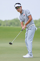 Kevin Na (USA) watches his putt on 3 during round 3 of the AT&amp;T Byron Nelson, Trinity Forest Golf Club, at Dallas, Texas, USA. 5/19/2018.<br /> Picture: Golffile | Ken Murray<br /> <br /> <br /> All photo usage must carry mandatory copyright credit (&copy; Golffile | Ken Murray)
