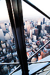 View from the Empire State Building New York USA at sunset
