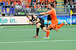 The Hague, Netherlands, June 10: Nick Haig #4 of New Zealand flicks the ball up during the field hockey group match (Men - Group B) between New Zealand and The Netherlands on June 10, 2014 during the World Cup 2014 at Kyocera Stadium in The Hague, Netherlands. Final score 1-1 (0-1) (Photo by Dirk Markgraf / www.265-images.com) *** Local caption ***