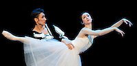 Yan Zhu and Shidong Sheng perform their dance during the World Stars Ballet Gala held in the Budapest Opera House in Budapest, Hungary, Saturday, 25. September 2010. ATTILA VOLGYI