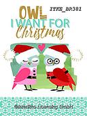 Isabella, CHRISTMAS ANIMALS, WEIHNACHTEN TIERE, NAVIDAD ANIMALES, paintings+++++,ITKEBR381,#xa#.owl,owls