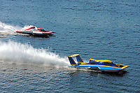 """Kevin Eacret, GP-55 and Ghislain Marcoux, GP-101 """"Groupe ABS"""" (Grand Prix Hydroplane(s)"""
