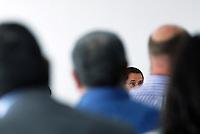 L'Aquila. la seconda udienza del processo alla commissione grandi rischi. 1°ottobre 2011.Il giudice Marco Billi.